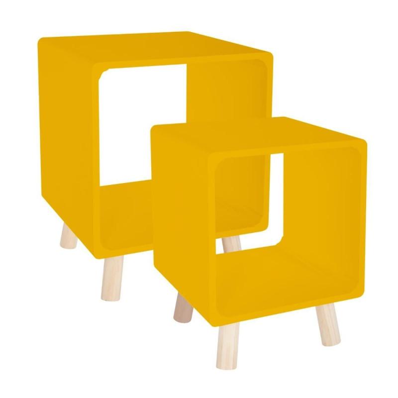 Lot de 4 chaises Greensboro Hespéride Prune