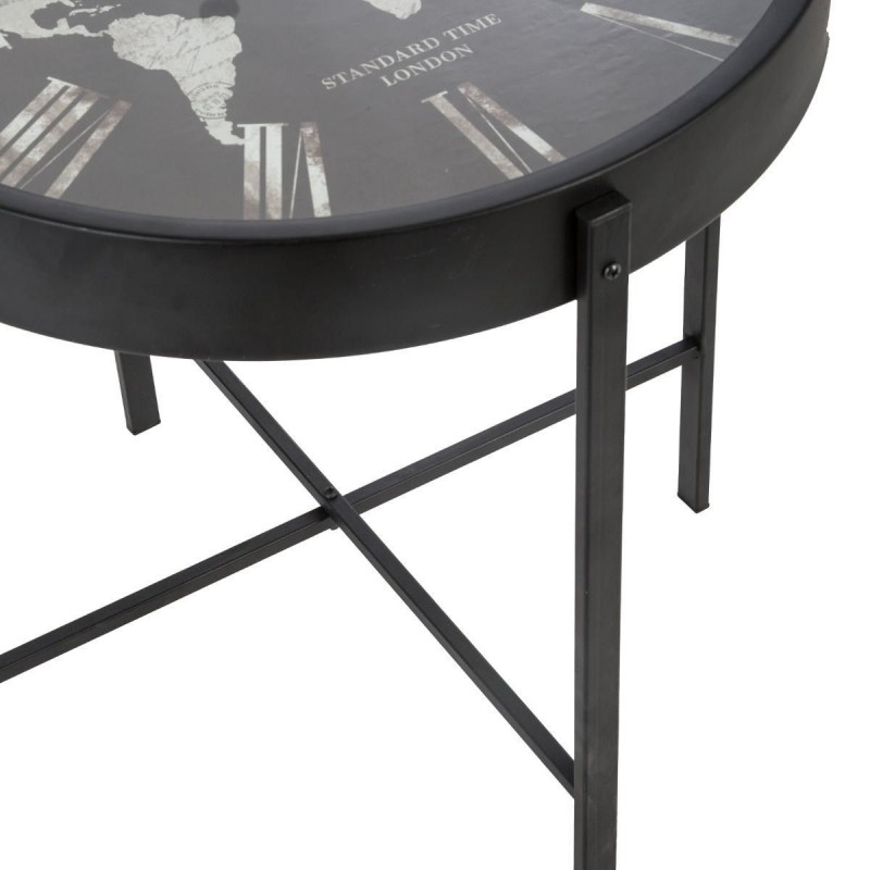 Table Basse Horloge Monde Atmosphera