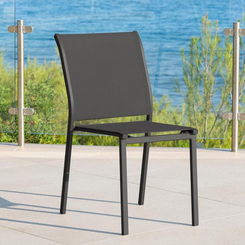 Chaise extérieur Essentia graphiteanthracite Hespéride