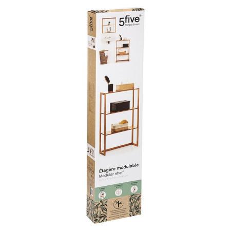 5Five Etag/ère Murale 3 Niveaux Bambou