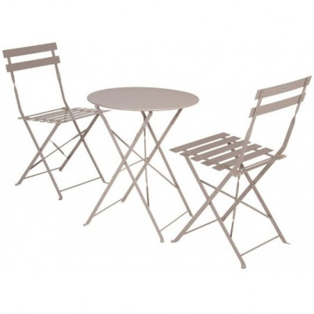 Hespéride Table Camargue Ronde 2 Personnes Taupe Tables ...