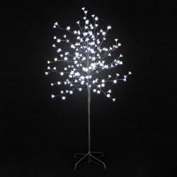 Arbre lumineux 200 fleurs LED roses