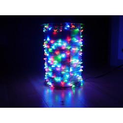 Guirlande intérieure 50 lampes multicolores fil transparent