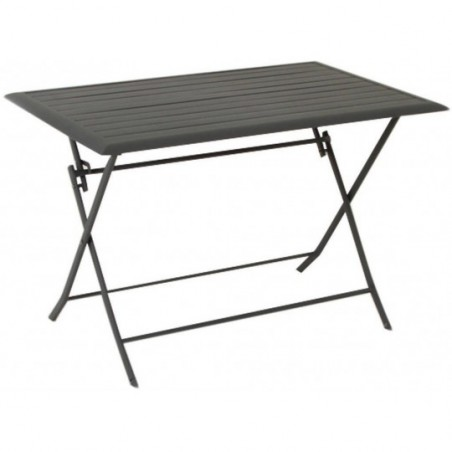 Table aluminium Azua 4 places gris ardoise Hespéride